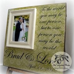 Engagement Gift Wedding Present Personalized Picture Frame 16x16 TO ...