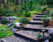 "This is a shallow set of steps - more platforms than steps from ""Gardening in the Country"""