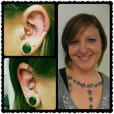 #New #piercings! #daith & #conch, which I <3
