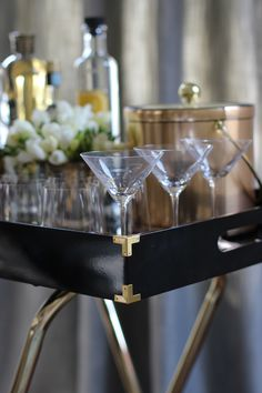 diy bar tray, barcart, cocktail, bar cart, hous