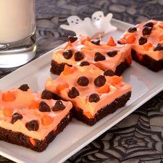 Halloween Brownie Bars (Easy; 20 servings) #Halloween #dessert #brownie
