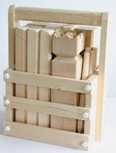 DIY Kubb ('Kubspell') block throwing game or Viking Chess - step by step photos.  - Good gift idea for active families, campers, etc.