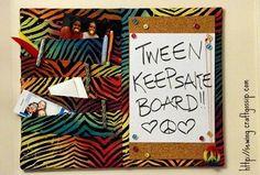 Tween Keepsake Board by @CraftBits & CraftGossip #MichaelsFabric