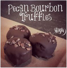 Pecan Bourbon Truffles