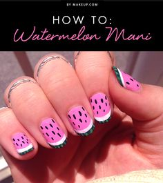 Summer isn't over just yet, so try out this fun watermelon manicure! This tutorial (courtesy of Kait Mosh) gives you one last chance to break out some bright summer colors before fall comes!