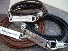 Triple Wrap Follow Your Heart Leather by UrbanSurvivalGearUSA, $24.99