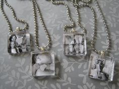 DIY Photo pendants. photo pendant, mothers day, gift ideas, photo tiles, photo jewelry, necklac, craft tutorials, glass tiles, christmas gifts