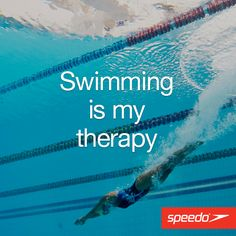 Swimming is my thera