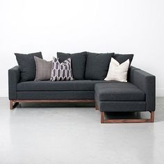 Toss-Back Flip Sectional - Charcoal #westelm