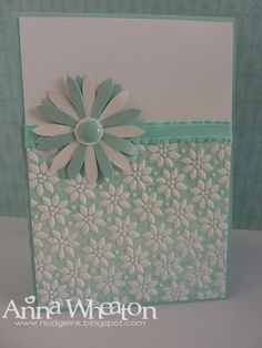 Nudge Nudge Ink Ink: Embossing Folder meets Brayer