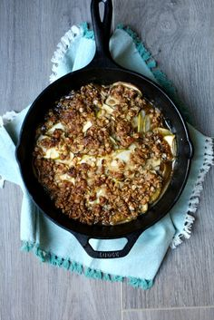 Fall flavors made easy with this Skillet Spiced Apple Crumble.