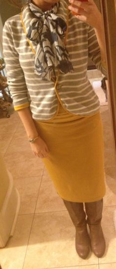 Stripes.  Florals.  Mustard. Gray.