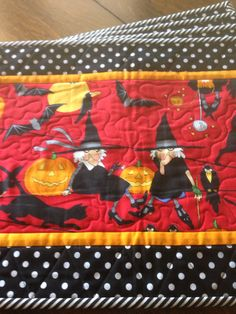 Witchy Halloween placemats.  Finished Oct. 2013