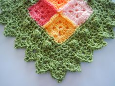 Apple Blossom Dreams: Afghan Test Swatch