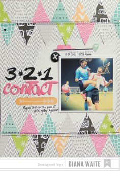 3,2,1 contact - Scrapbook.com - Made with American Crafts supplies.