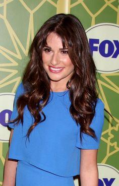 Lea Micheles split bangs and loose curls