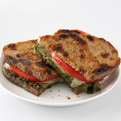 Pesto Grilled Cheese Sandwiches Recipe