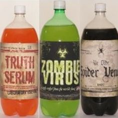 Halloween Bottle Labels ..never seen these before