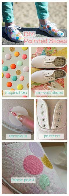 Bunnies in Blazers: DIY Painted Shoes