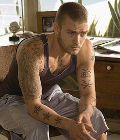 Hot Man, Hot Men, Sexy. Boy. Muscle, Muscles, Muscular. Justin Timberlake. Style. Tattoo
