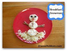 Breakfast Foods  Snowman