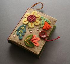 needlebook, folk art, needle book, felt crafts, bible covers, needl book, book covers, felt books, craft night