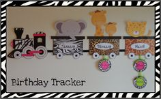 Cute birthday trackers and perfect for my juingle themed room