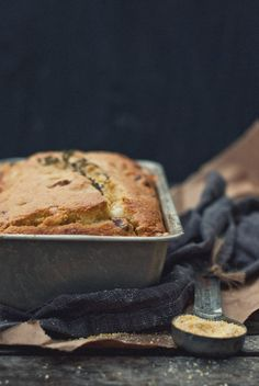 Sausage, Aged Cheddar and Thyme Cornbread by @The Gouda Life
