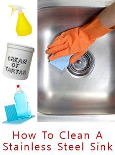 Polishing stainless steel sink