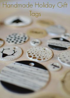 DIY Modern Handmade Holiday Gift Tags