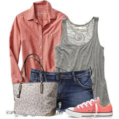 boyfriend shirt, boyfriend style, 1969, summer outfits, shoe, polyvore fashion, bags, boyfriends, chambray boyfriend