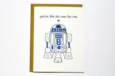 Funny Star Wars R2D2 card. Valentine card  by DarkroomandDearly, $4.00