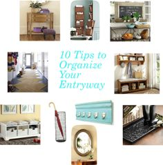 When it comes to the entryway, its equal parts decor and function ~ 10 Tips to Organize Your Entryway