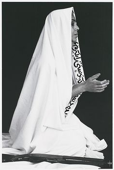 Shirin Neshat (American, born Iran, 1957). Women of Allah: From Way In Way Out portfolio (published 1996), 1994. Pen and ink on photograph.