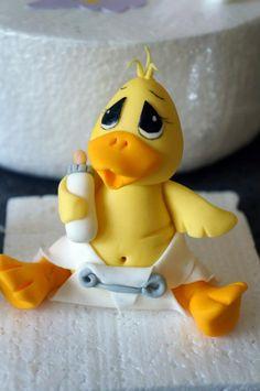duckling cake topper