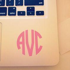 Macbook monogramming!