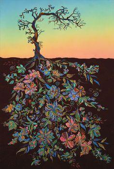 "Saatchi Online Artist Erika Pochybova-Johnson; Painting, ""Sunset"""