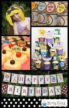 Mad Hatters Tea Party Printables, alice in wonderland party