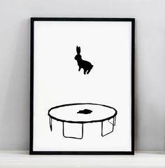 Bouncing Rabbit Screen Print - « HAMMADE