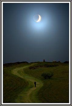 walk ireland, dream, moonlight walk, art, path, beauti, night walk, 40th wedding anniversary, moonlight love