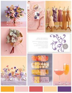 Pink Purple and Orange Wedding by finestationery, via Flickr