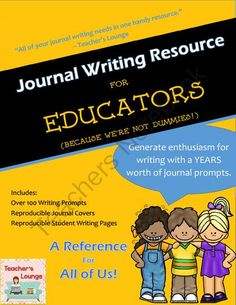Journal Writing Prompts - A Resource for Educators from Teacher's Lounge on TeachersNotebook.com -  (136 pages)  - All of your journal writing needs in one handy resource! Generate enthusiasm for writing with a years worth of journal prompts.
