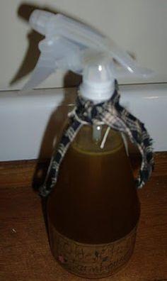 DIY clove and vanilla room fragrance.