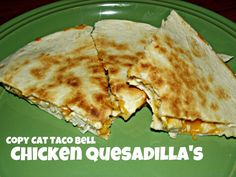 Copy Cat Taco Bell Chicken Quesadilla Recipe *Made this sauce last night.  It was delicious!  Used half the jalepenos.