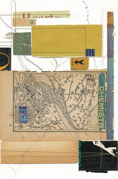 Melinda Tidwell - chemistry    playing with machine stitching and pencil line with the book piece collaging.