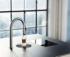 coffee lovers, dream, top brewer, coffe faucet, coffee drinks, taps, faucets, cup of coffee, kitchen counter
