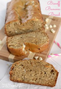 biscoff banana bread | crazyforcrust.com | Add cookie butter to banana bread batter for one of the best banana bread recipes ever!