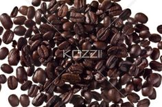 scattered coffee beans - Image of scattered coffee beans isolated on white background