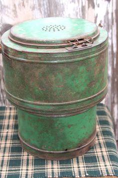 Vintage Minnow Bucket Old RARE Antique by stitchintimepatterns, $95.95