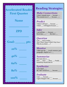 Accelerated Reader (AR) Bookmark